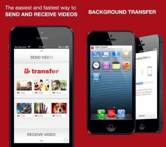 WiFi経由でビデオや写真の転送アプリ