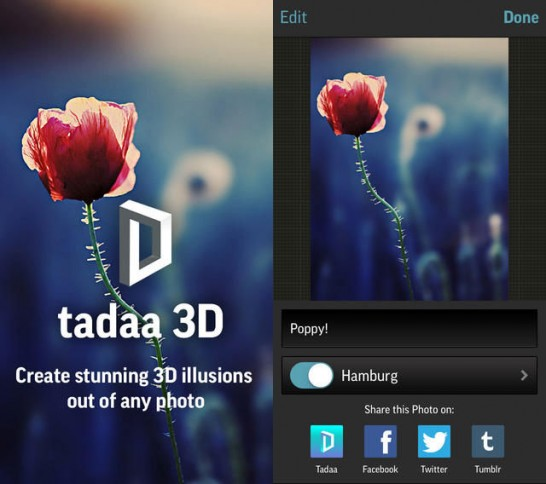 【無料セールアプリ】tadaa 3D(5/20UP)#iphone #camera #photo